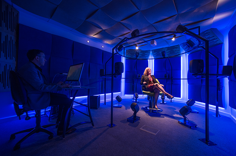 The Audorama™ – real world acoustic simulator to immerse someone in 3D sound