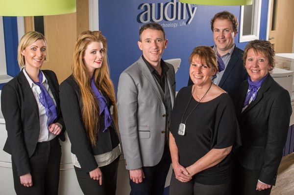 Photograph of the team at Audify®|Exeter