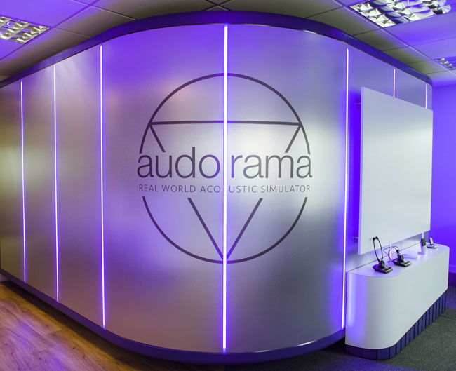 Appearing as a space-age pod, the Audorama™ at Audify® offers a glimpse into the future of hearing care.